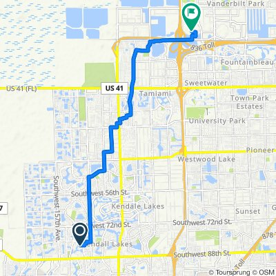 8006 SW 149th Ave, Kendall West to 11361 NW 12th St, Sweetwater
