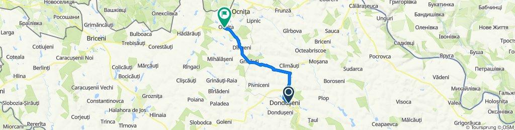 От Str. Gangal, Donduşeni до R11, Ocnița