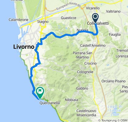 Relaxed route in Livorno