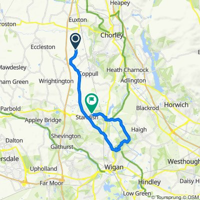 Preston Road, Chorley to 18 Churchlands Lane, Wigan