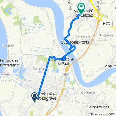 Moderate route in Saint-André-de-Cubzac
