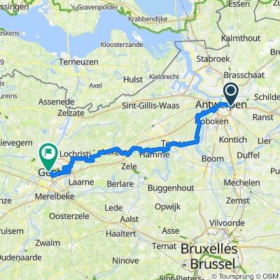 R2 Antwerpen - Gent - Bikemap Full