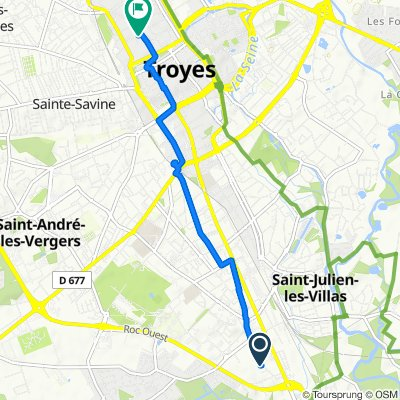 Moderate route in Troyes
