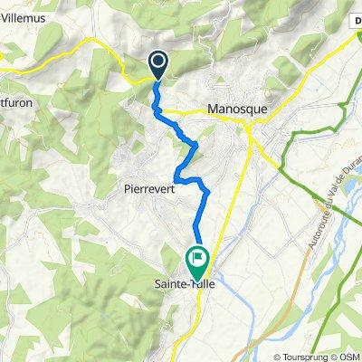 De 2157 Route d'Apt, Manosque à 1–47 Avenue Marcel Cachin, Sainte-Tulle