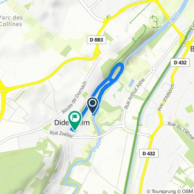 Relaxed route in Didenheim