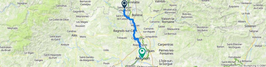 De Rue du Prunier, Saint-Marcel-d'Ardèche à 15 Place de l'Horloge, Avignon