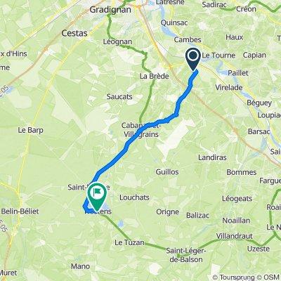 De 21 Allée de l'Airial, Castres-Gironde à 2–6 Route de Bordeaux, Hostens