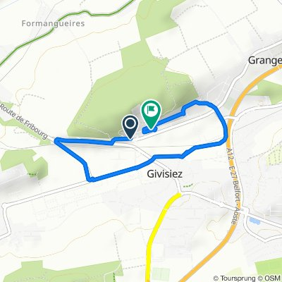 Restful route in Givisiez
