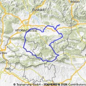 Zalduondo Campezo-Ventas de Armentia-Gasteiz- Alegria-Zalduondo