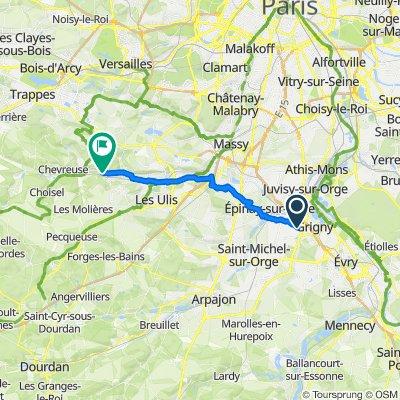 High-speed route in Saint-Rémy-lès-Chevreuse