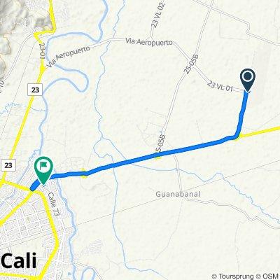 De Vía al Aeropuerto Norte 9-67, La Esmeralda a Carrera 1a 3 72-42, Cali