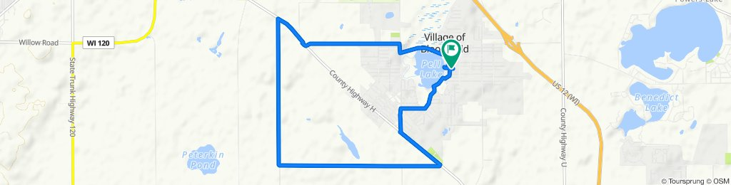 Restful route in Bloomfield