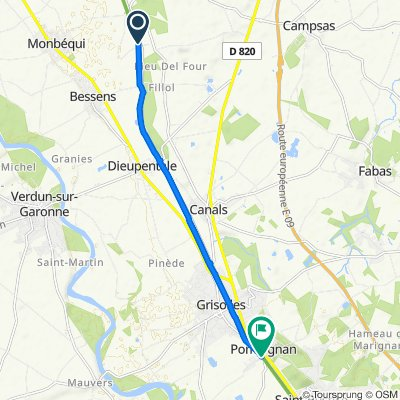 De Chemin du Canal, Bessens à 1–11 Impasse Saint-Cyprien, Pompignan