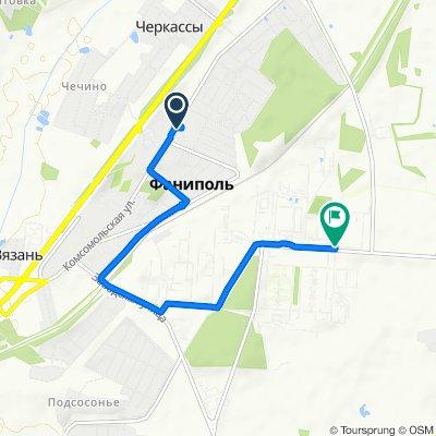 От улица Зелёная 3, Фаниполь до улица Заводская 43, Фаниполь