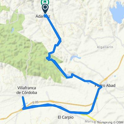 Supersonic route in Adamuz