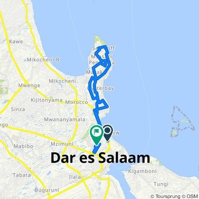 Moderate route in Dar es Salaam