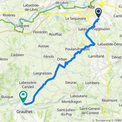 De 72 Chemin de Saint-Salvadou, Albi à 14–20 Boulevard du Docteur Pontier, Graulhet