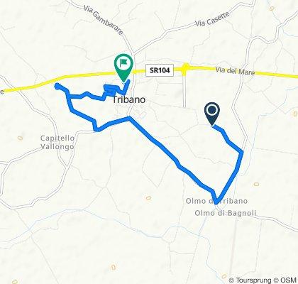 Da Via Draghe 23/A, Tribano a Via Galilei 13, Tribano