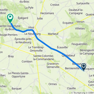Itinéraire à partir de Voie Verte, Sacquenville