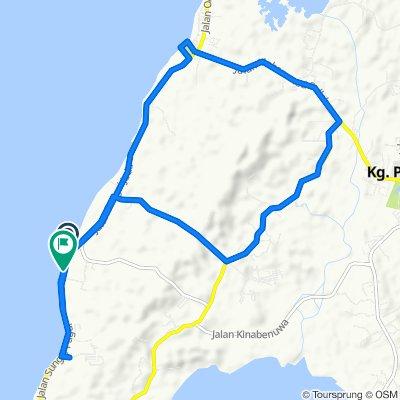 Route to Jalan Sungai Pagar, Pulau Labuan