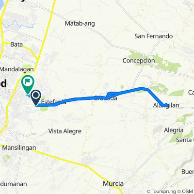 Route from Burgos Street, Bacolod City