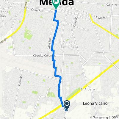 De Calle 163 273, Mérida a Calle 60 542, Mérida