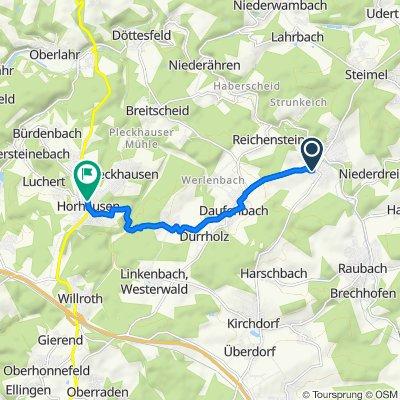 Ackerweg 3–7, Puderbach nach Rheinstraße 43, Horhausen (Westerwald)