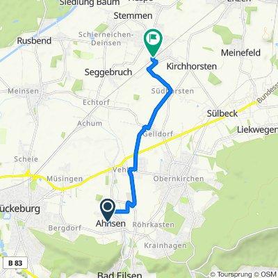 Schulstraße 28, Ahnsen nach Rauher Kamp 28, Helpsen