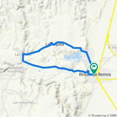 Restful route in Rincón de Romos