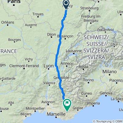 De 5 Chemin du Haut du Clos, Neuves-Maisons à Route de Barjols, Sillans-la-Cascade