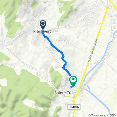 Restful route in Sainte-Tulle
