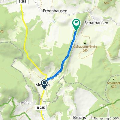 Moderate route in Erbenhausen