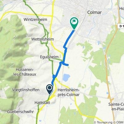 Easy ride in Colmar