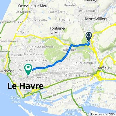 Itinéraire vers 3 Rue Lestorey de Boulongne, Le Havre