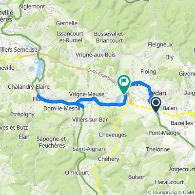 Itinéraire modéré en Sedan
