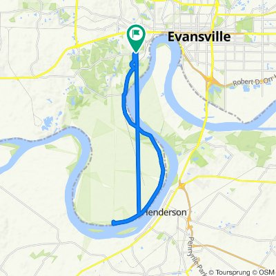 South Tekoppel Avenue 1400, Evansville to South Tekoppel Avenue 1400, Evansville