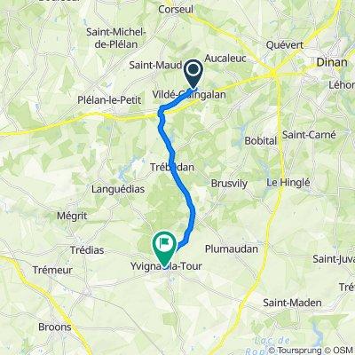 De 7 Résidence des Hortensias, Vildé-Guingalan à 2 Rue de l'Abbaye, Yvignac-la-Tour