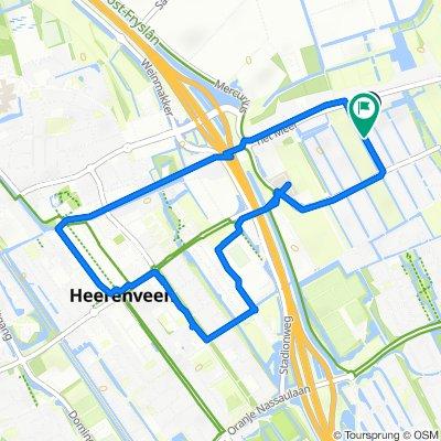Rosa Manusweg 8, Heerenveen naar Henriëtte Roland Holstweg 2, Heerenveen