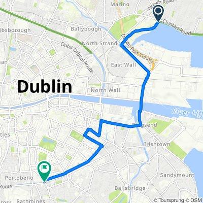Alfie Byrne Road, Dublin to Charlemont Street, Dublin