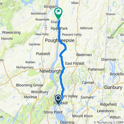 Louisa St, Peekskill to Margaret Norrie State Park, Staatsburg