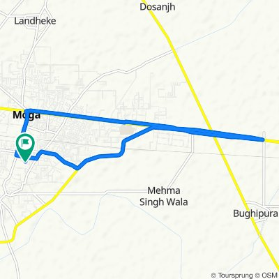Relaxed route in Moga