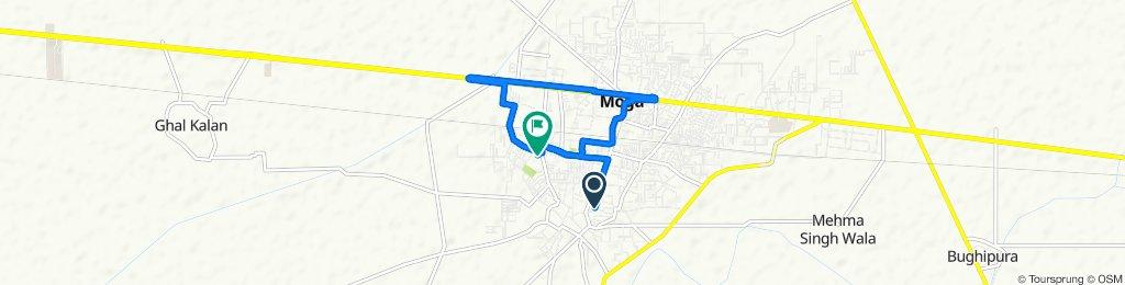 Slow ride in Moga