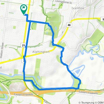 Restful route in Fairfield