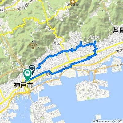 1-2, Wakanadori 3-Chōme, Chuo-Ku, Kobe-Shi to 4-8, Kumoidori 3-Chōme, Chuo-Ku, Kobe-Shi