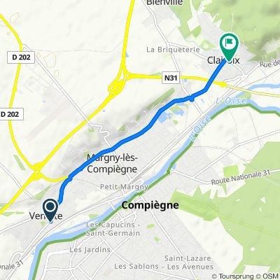 De 2 Rue André Mellenne, Venette à 4 Rue du Général de Gaulle, Clairoix