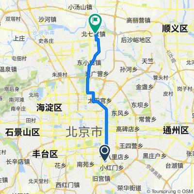 成寿寺路少角中街8号院5号楼, 北京市 到 定泗路, 北京市