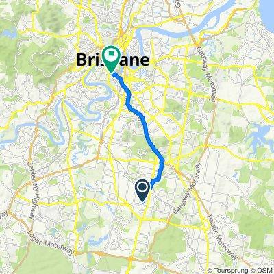 65 Borella Road, Sunnybank Hills to 40D Tribune Street, South Brisbane