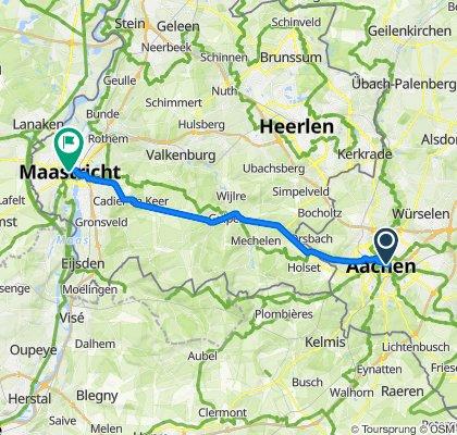 Schumacherstraße 17, Aachen to Markt 2103, Maastricht