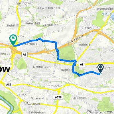 Steady ride in Glasgow