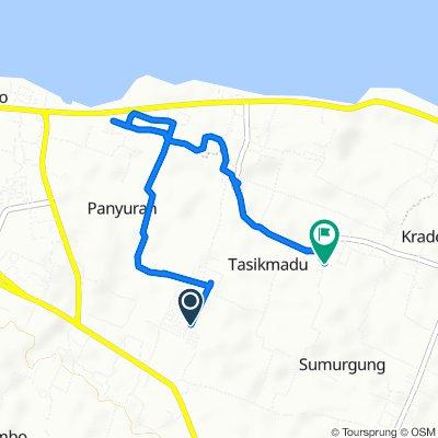 Jalan Cemara Raya 27, Kecamatan Palang to Jalan Siwalan, Kecamatan Palang